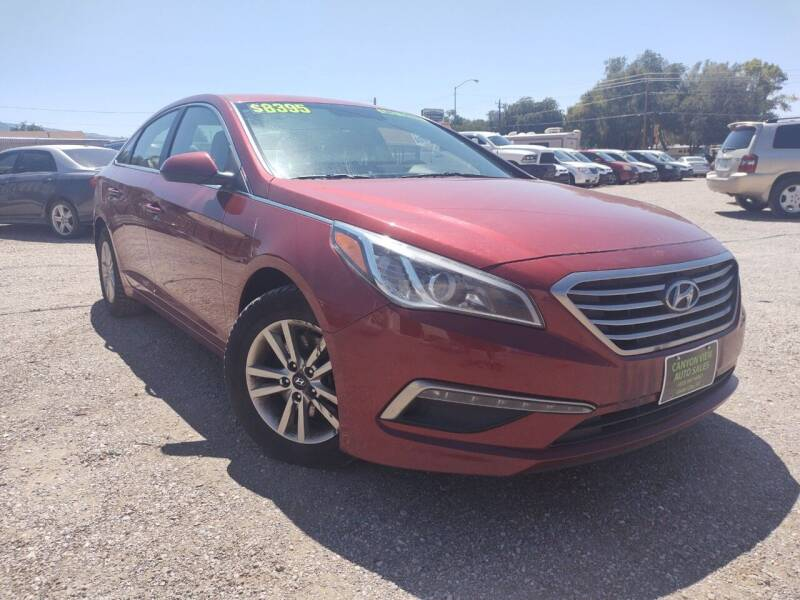 2015 Hyundai Sonata for sale at Canyon View Auto Sales in Cedar City UT