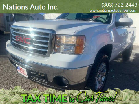 2013 GMC Sierra 1500 for sale at Nations Auto Inc. in Denver CO