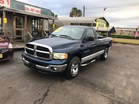 2003 Dodge Ram Pickup 1500 for sale at Texas 1 Auto Finance in Kemah TX