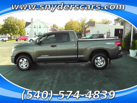 2012 Toyota Tundra for sale at Snyders Auto Sales in Harrisonburg VA