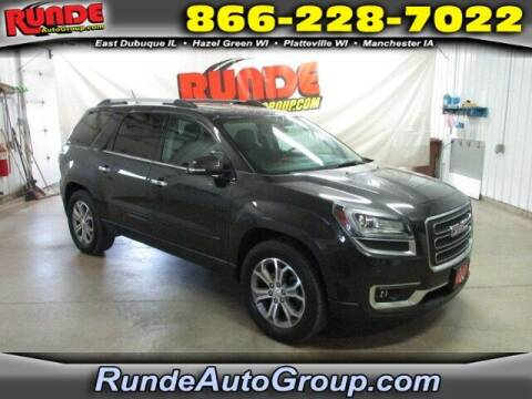 2015 GMC Acadia for sale at Runde PreDriven in Hazel Green WI