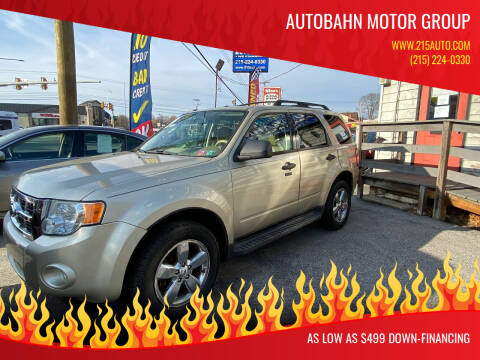 2010 Ford Escape for sale at Autobahn Motor Group in Willow Grove PA