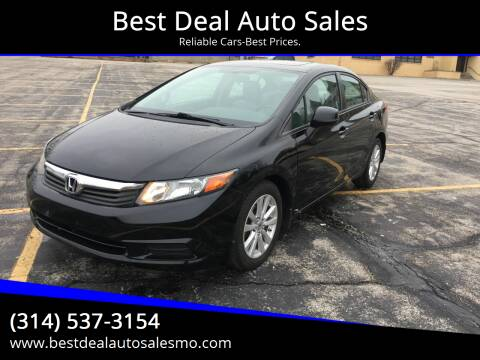 2012 Honda Civic for sale at Best Deal Auto Sales in Saint Charles MO