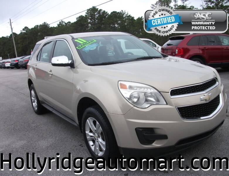 2011 Chevrolet Equinox for sale at Holly Ridge Auto Mart in Holly Ridge NC