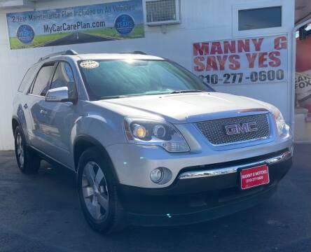 2011 GMC Acadia for sale at Manny G Motors in San Antonio TX