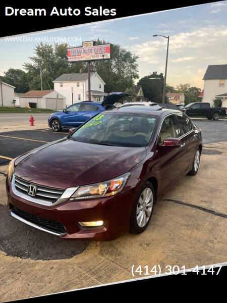 2013 Honda Accord for sale at Dream Auto Sales in South Milwaukee WI