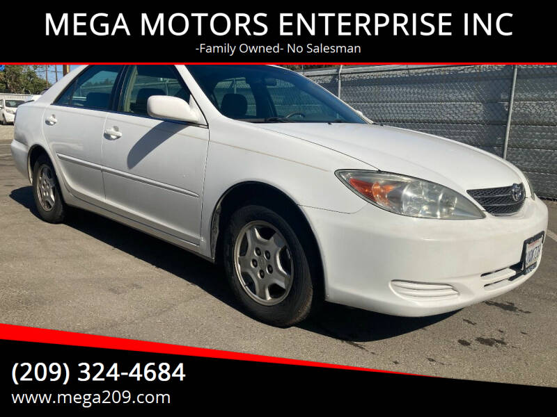 2002 Toyota Camry for sale at MEGA MOTORS ENTERPRISE INC in Modesto CA