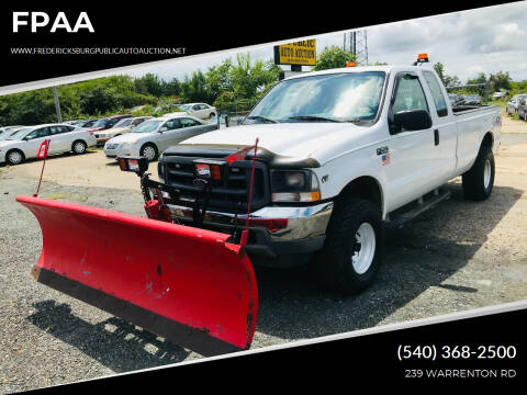 2002 Ford F-250 Super Duty for sale at FPAA in Fredericksburg VA
