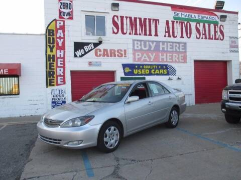 2002 Toyota Camry for sale at Summit Auto Sales Inc in Pontiac MI