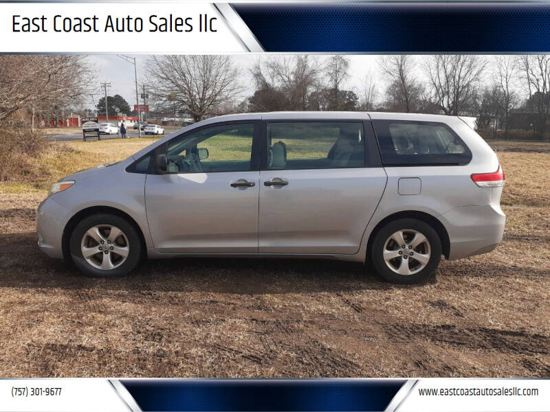 2011 Toyota Sienna for sale at East Coast Auto Sales llc in Virginia Beach VA