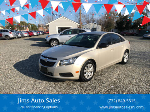 2014 Chevrolet Cruze for sale at Jims Auto Sales in Lakehurst NJ