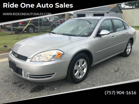 2007 Chevrolet Impala for sale at Ride One Auto Sales in Norfolk VA