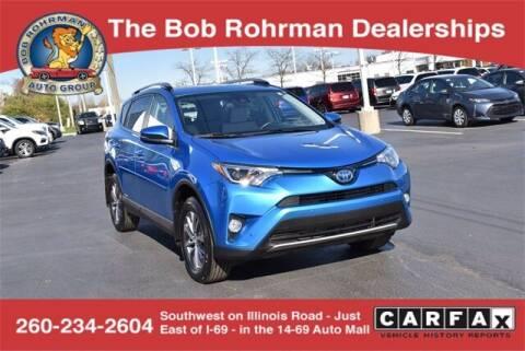 2018 Toyota RAV4 Hybrid for sale at BOB ROHRMAN FORT WAYNE TOYOTA in Fort Wayne IN