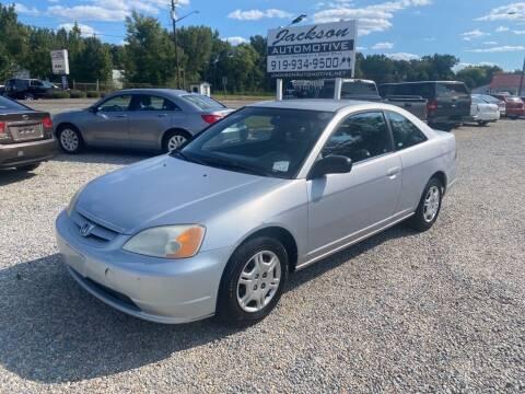 2002 Honda Civic for sale at Jackson Automotive in Smithfield NC