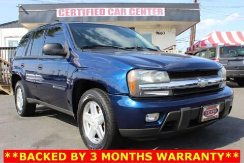 2003 Chevrolet TrailBlazer for sale at CERTIFIED CAR CENTER in Fairfax VA