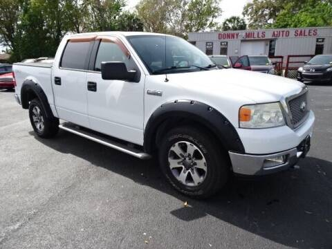 2005 Ford F-150 for sale at DONNY MILLS AUTO SALES in Largo FL