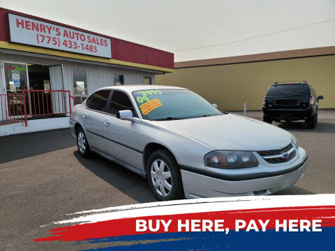 2004 Chevrolet Impala for sale at Henry's Autosales, LLC in Reno NV