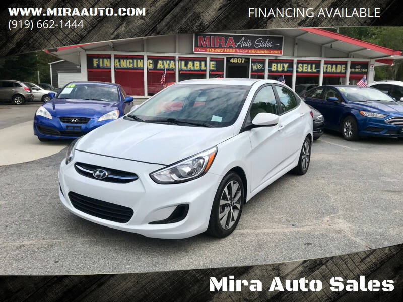 2017 Hyundai Accent for sale at Mira Auto Sales in Raleigh NC