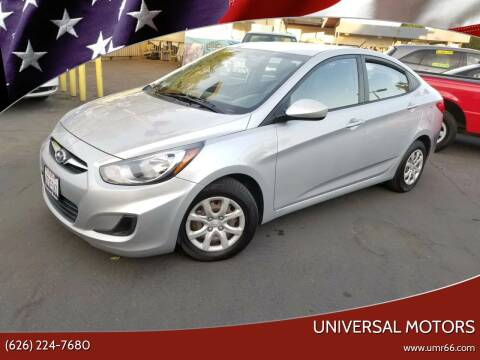 2013 Hyundai Accent for sale at Universal Motors in Glendora CA