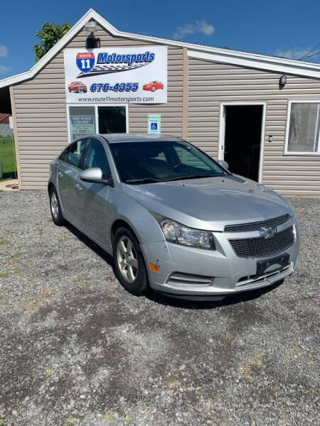 2014 Chevrolet Cruze for sale at ROUTE 11 MOTOR SPORTS in Central Square NY
