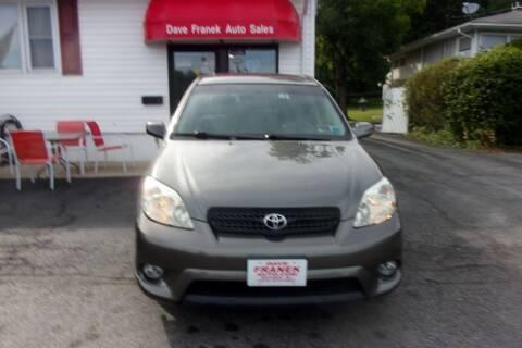 2005 Toyota Matrix for sale at Dave Franek Automotive in Wantage NJ