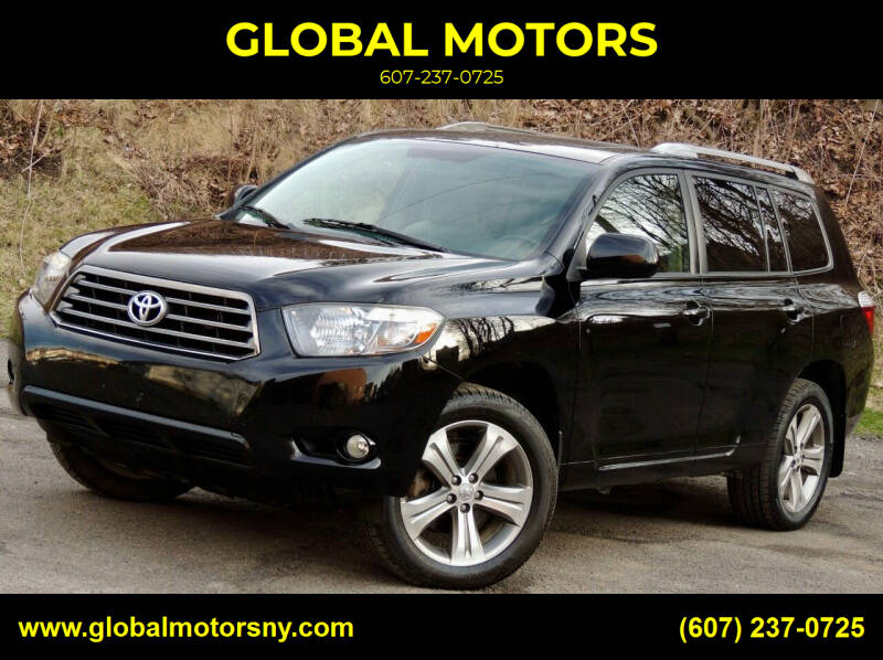 2010 Toyota Highlander for sale at GLOBAL MOTORS in Binghamton NY