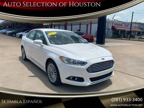 2013 Ford Fusion for sale at Auto Selection of Houston in Houston TX