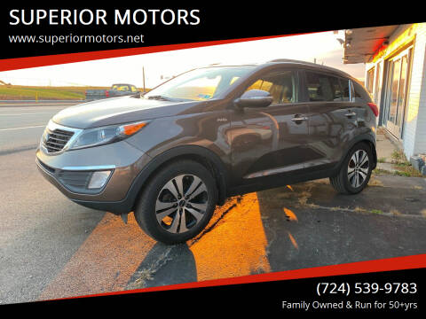 2013 Kia Sportage for sale at SUPERIOR MOTORS in Latrobe PA