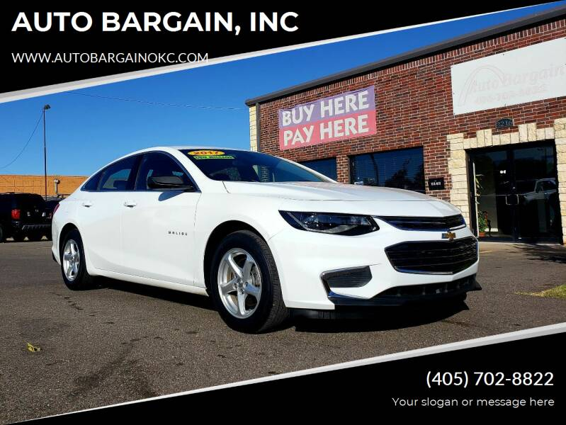 2017 Chevrolet Malibu for sale at AUTO BARGAIN, INC. #2 in Oklahoma City OK