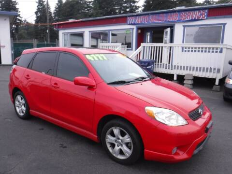 2005 Toyota Matrix for sale at 777 Auto Sales and Service in Tacoma WA