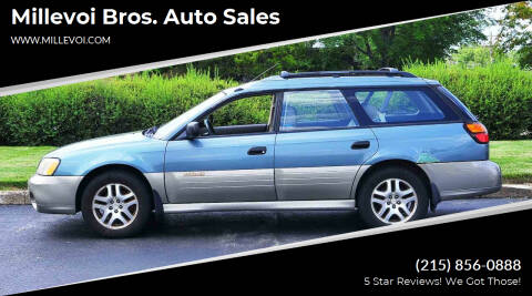2001 Subaru Outback for sale at Millevoi Bros. Auto Sales in Philadelphia PA