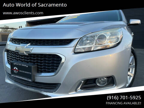 2015 Chevrolet Malibu for sale at Auto World of Sacramento Stockton Blvd in Sacramento CA