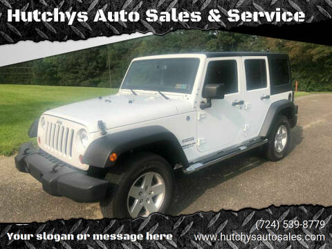 2013 Jeep Wrangler Unlimited for sale at Hutchys Auto Sales & Service in Loyalhanna PA