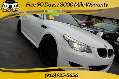 2008 BMW M5 for sale at West Coast Auto Sales Center in Sacramento CA