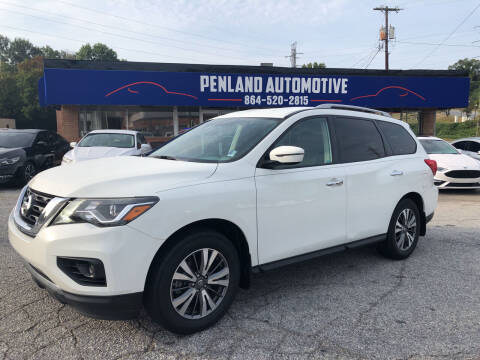 2017 Nissan Pathfinder for sale at Penland Automotive Group in Laurens SC