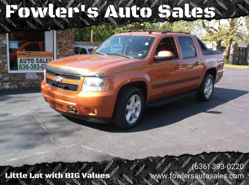 2008 Chevrolet Avalanche for sale at Fowler's Auto Sales in Pacific MO
