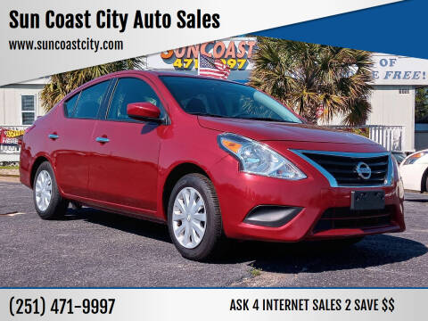 2019 Nissan Versa for sale at Sun Coast City Auto Sales in Mobile AL