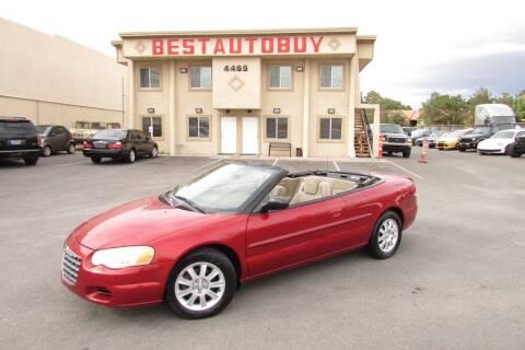2004 Chrysler Sebring for sale at Best Auto Buy in Las Vegas NV