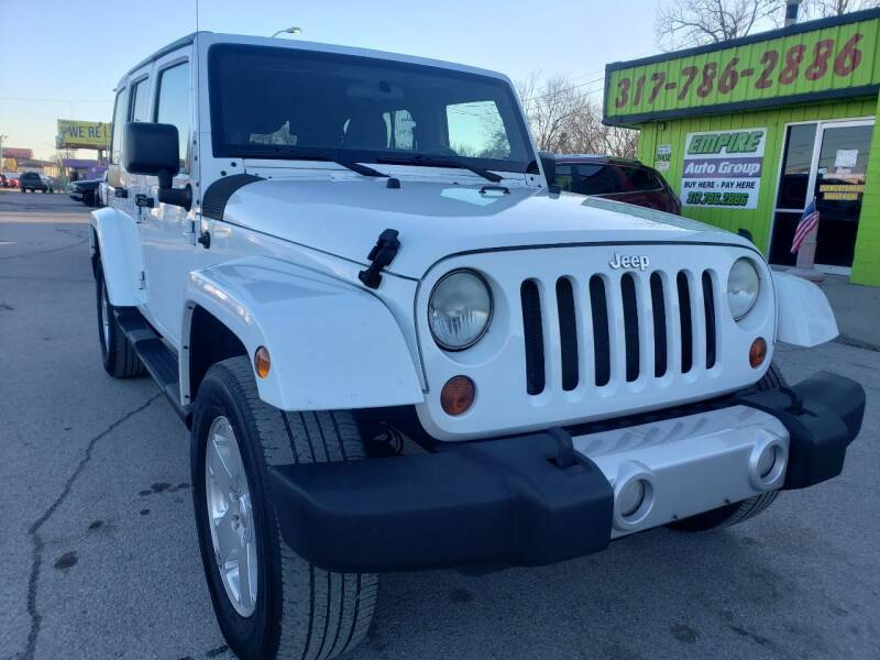 2011 Jeep Wrangler Unlimited for sale at Empire Auto Group in Indianapolis IN