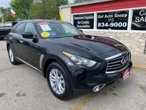 2016 Infiniti QX70 for sale at GOL Auto Group in Austin TX