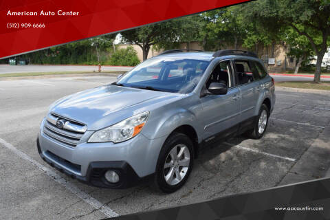 2014 Subaru Outback for sale at American Auto Center in Austin TX