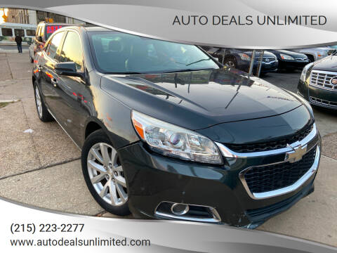 2014 Chevrolet Malibu for sale at AUTO DEALS UNLIMITED in Philadelphia PA