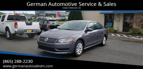 2015 Volkswagen Passat for sale at German Automotive Service & Sales in Knoxville TN