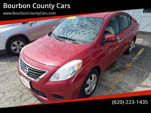 2013 Nissan Versa for sale at Bourbon County Cars in Fort Scott KS