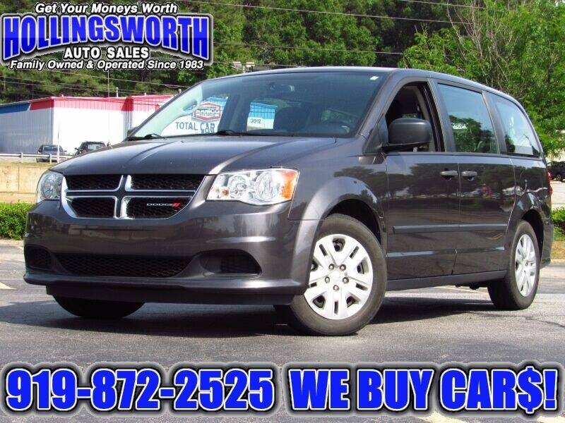 2016 Dodge Grand Caravan for sale at Hollingsworth Auto Sales in Raleigh NC