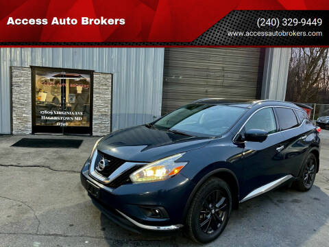 2017 Nissan Murano for sale at Access Auto Brokers in Hagerstown MD