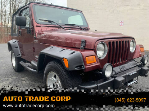 2004 Jeep Wrangler for sale at AUTO TRADE CORP in Nanuet NY