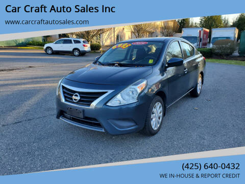 2016 Nissan Versa for sale at Car Craft Auto Sales Inc in Lynnwood WA