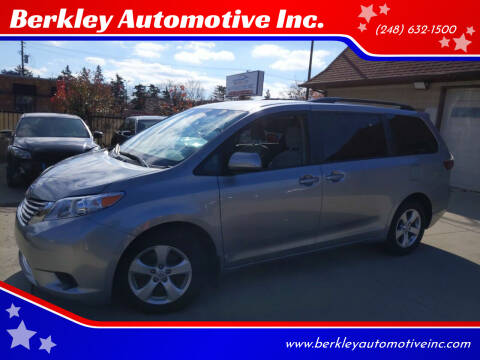 2017 Toyota Sienna for sale at Berkley Automotive Inc. in Berkley MI