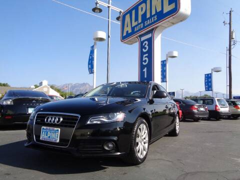 2009 Audi A4 for sale at Alpine Auto Sales in Salt Lake City UT